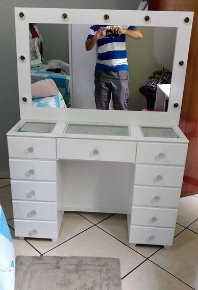 Penteadeira Camarim 11 Gavetas Com Espelho