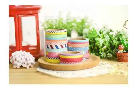 1 Kit De 3 Washi Tape Fita Decorativa
