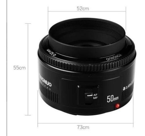 Lente Yongnuo Para Canon 50mm 1.8 Pronta Entrega Nova