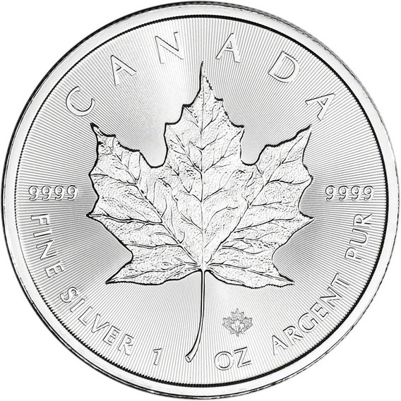 Moneda 1 Onza De Plata Fina/pura 999 Canadá Maple 2019 Sc