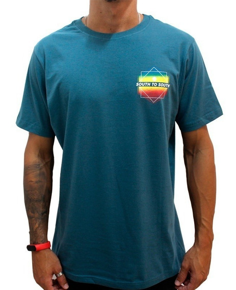 Camiseta South To South Surf Park Petróleo