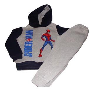Conjunto Buzo Y Joggins Spiderman Nene Deportivo Marvel!