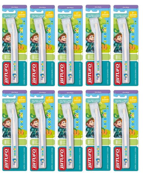 Kit 10 Escova De Dente Baby 1° Dentinho Bitufo (cocoricó)