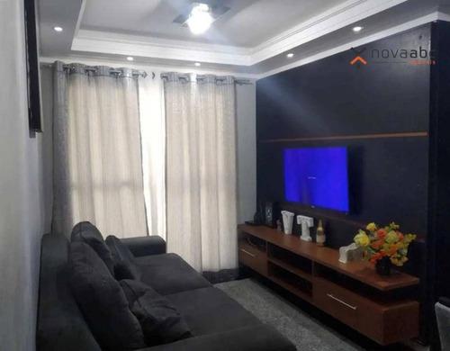Apartamento Com 2 Dormitórios À Venda, 50 M² Por R$ 290.000 - Vila Homero Thon - Santo André/sp - Ap3347