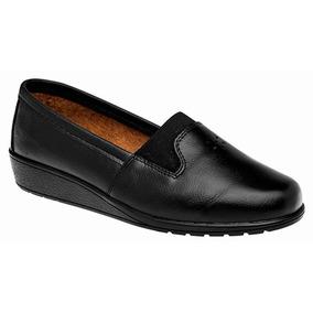 Zapatos Casual Mocasines Florenza Dama Piel Negro 06287 Dtt