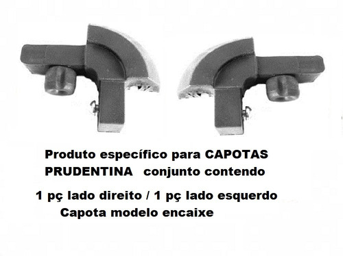 Cantoneira Nylon P/capota Prudentina Mod. Encaixe(2pç)pc153
