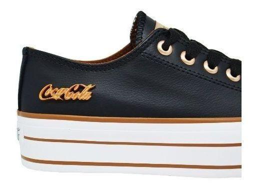 Tênis Feminino Flatform Cocacola Shoes Cc1550 Original Black