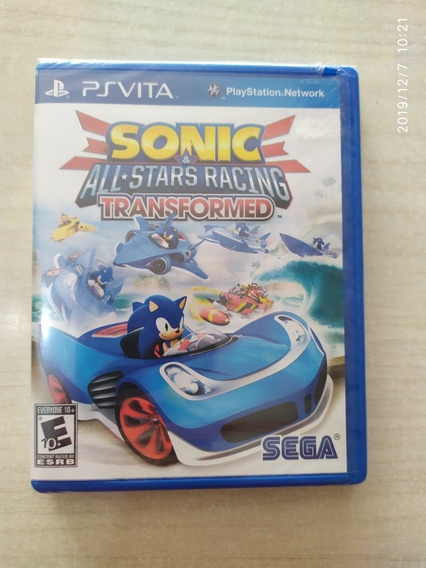 Jogo Sonic All-stars Racing Transformed Psvita Mídia Física