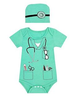 Paddy Field Baby Girls Boys Doctor Disfraz Body