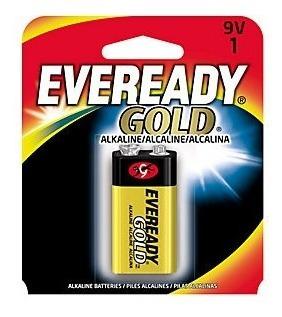 Atacado 12 Un. Bateria 9v Eveready Gold Alcalina 9 Volts