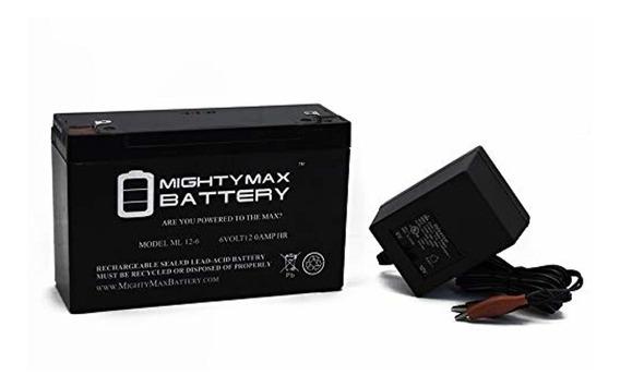 Mighty Max Battery Batería 6v 12ah De Reemplazo