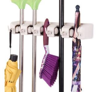 Costway Mop Holder Hanger 5 Posiciones Hogar