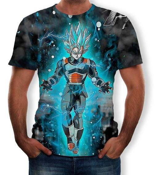 Camiseta De Verano Para Hombre Dragon Ball 3d Impresa