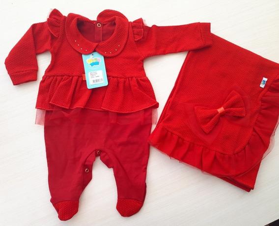 Kit Saída De Maternidade Vermelha Menina Tamanho P