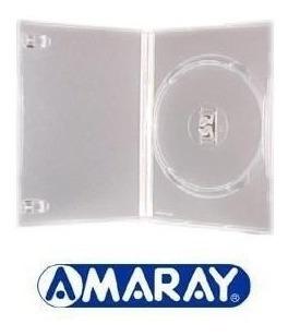 Capa Para Dvd Amaray Estojo Transparente 50 Unidades