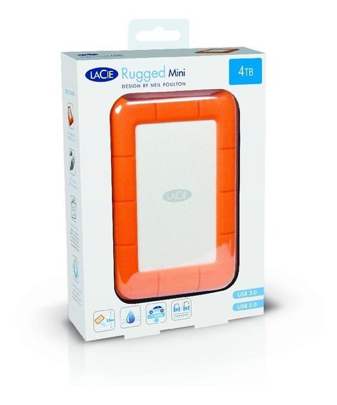 Dd Externo Lacie Rugged Mini 4tb 2.5 Usb 3.0 Ip67 Mac