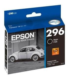 Cartucho Epson T296 Negro Original 296 Xp231 Xp431