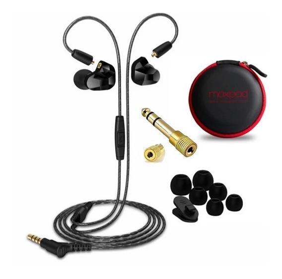 Fone In-ear Moxpad X9 Dual Driver Palco Mp3 Original + P10