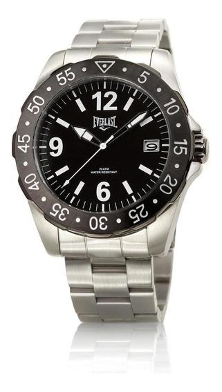 Relógio Pulso Everlast Masculino Aço Calendário E267