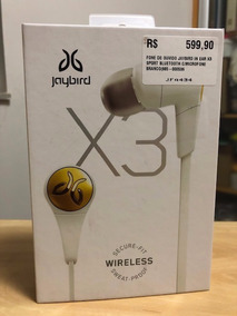 Fone De Ouvido Jaybird X3 Sport Bluetooth Branco