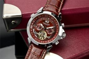 Relógio Calvaneo 1583 Astonia Platin Cognac Automatico