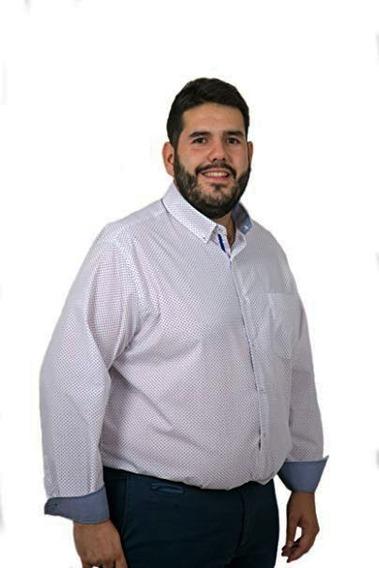 Camisas De Hombre Estampadas Pintitas Talle Especial