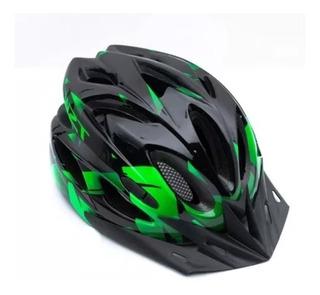Capacete Tsw Raptor C/ Sinalizador Led Ciclismo Bike Mtb M