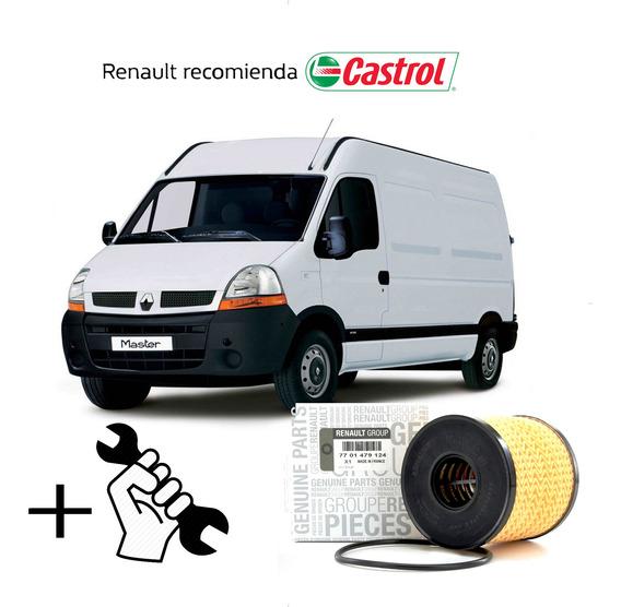 Cambio Filtro + Aceite Castrol 10w40 Renault Master 2.5 G9u