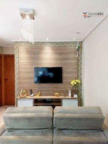 Imagem 1 de 27 de Cobertura Com 2 Dormitórios À Venda, 46 M² Por R$ 445.000,00 - Bangu - Santo André/sp - Co1051