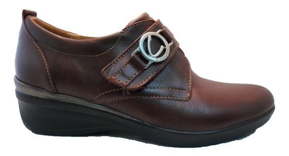Zapato Cavatini Con Abrojo Cuero Mujer En Pinkerton