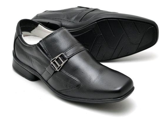 Sapato Masculino Couro Legítimo Amortecedor Anti Stress
