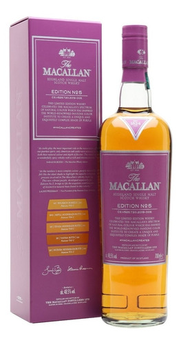Imagen 1 de 8 de Whisky The Macallan Edition Nro 5 700ml En Estuche