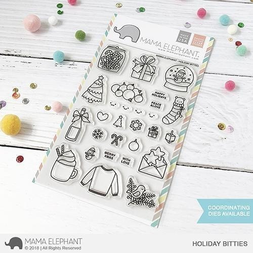 Sellos Mama Elephant Scrapbook Manualidades Holiday Bitties