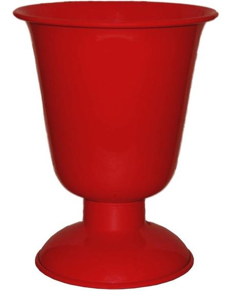 Vaso Tulipa Alumínio Grande 29x23 Cores Arranjo Decoração Mesa Festas Eventos Aniversário Casamento Casa Com Nota Fiscal