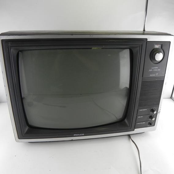 Tv Antiga Philco Soft Selector 17 Polegadas - Decoração C/ Defeito