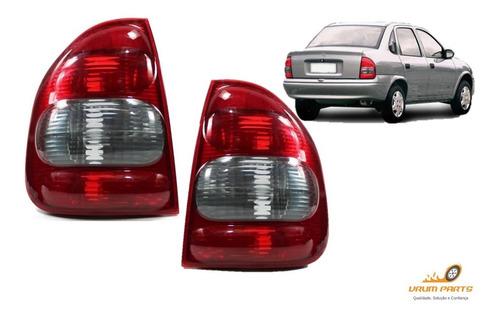 Imagem 1 de 5 de Par Lanterna Traseira Corsa Sedan Classic 2000 A 2010 Bolha