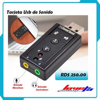 Tarjeta Usb De Audio 7.1ch