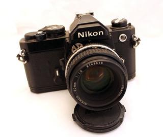 Cámara Reflex 35m Nikon Fm C/ Nikon 50 F.1.8