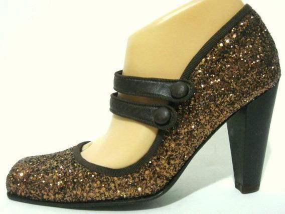 Zapatos Maggio&rossetto 35,38 Baile Tango Glitter Marron