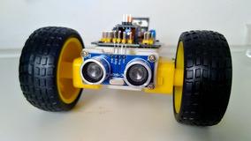 Robô Explorador Arduino Nano Ultrassom Hc-sr04 Ponte H #1