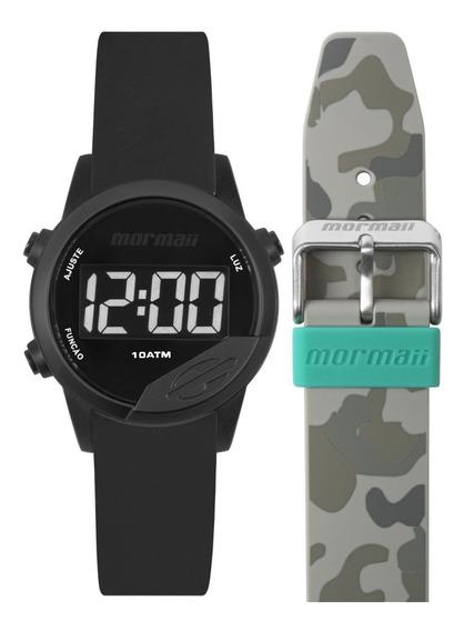 Relógio Mormaii Mude Masculino Feminino Digital + Pulseira