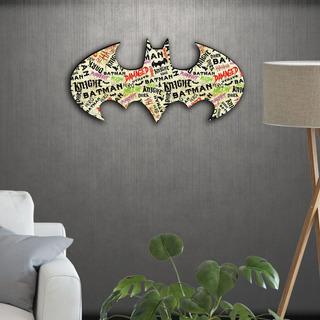 Cuadro Madera Dc Comics Logo Batman Oficial Varios Modelos