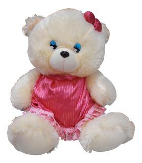 Peluche Osito Con Vestido Rosado 35 Cm Piz0037-0002 (2550)
