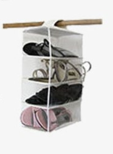 Imagen 1 de 4 de Organizador De Zapatos  Para 4 Pares.colgante.