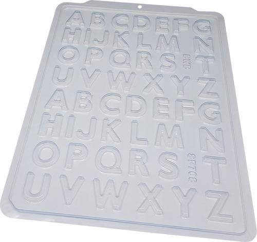 Forma Acetato Para Bombom De Chocolate Letras Alfabeto Kit2