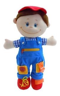 Muñeco Para Aprender A Vestir Lalo Didáctico Preescolar Niño