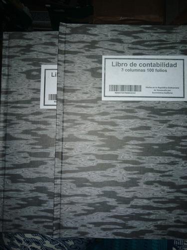 2 Libros Contables De 100 Folios Tapa Dura