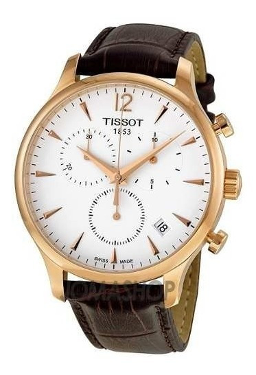 Relógio Tissot Tradition T0636173603700 Rose Couro Original