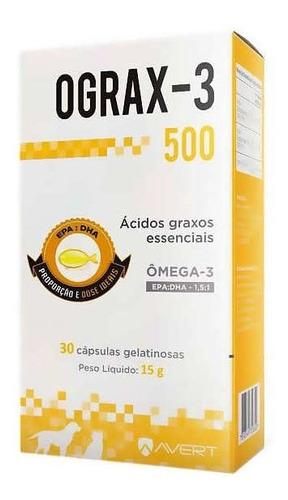 Imagem 1 de 3 de Ograx 500mg Avert C/ 30 Comprimidos Omega-3