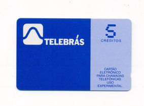 *sll* Cartão Telebrás 5 Créditos Uso Em Teste Para Coleção